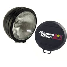 Rugged Ridge 15205.02 5 Inch Round HID Off Road Fog Light Kit; Black Steel Housing