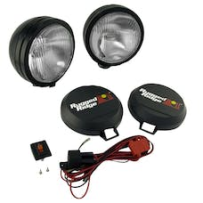 Rugged Ridge 15205.51 6 Inch Round HID Off Road Fog Light Kit; Black Steel Housing; Pair