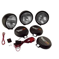 Rugged Ridge 15205.61 6 Inch Round HID Off Road Fog Light Kit; Black Steel Housing; Set of 3
