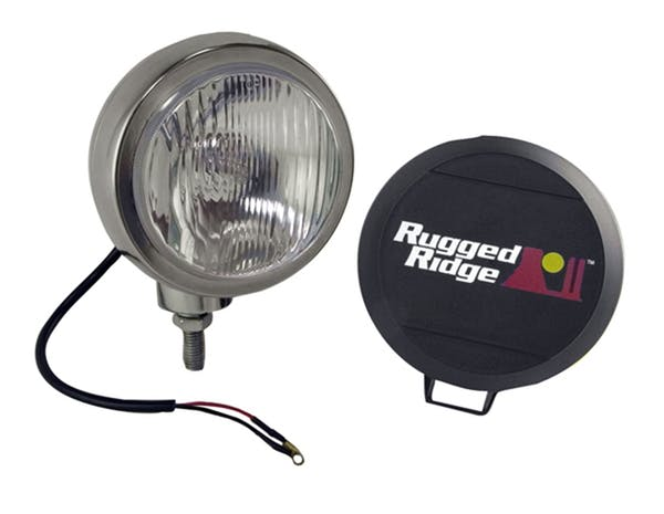 Rugged Ridge 15206.01 6 Inch Round HID Off Road Fog Light; Stainless Steel Housing