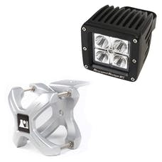 Rugged Ridge 15210.10 X-Clamp and Square LED Light Kit; Large; Silver; 1 Piece
