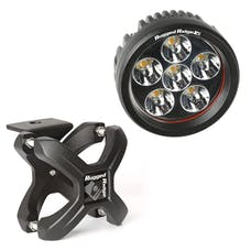 Rugged Ridge 15210.40 X-Clamp and Round LED Light Kit; Small; Textured Black; 1 Piece