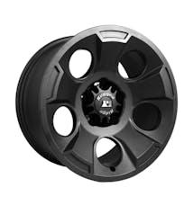 Rugged Ridge 15302.01 Drakon Wheel; 17x9; Black Satin; 07-17 Jeep Wrangler JK