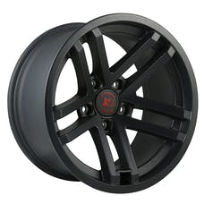 Rugged Ridge 15303.90 Jesse Spade Wheel; 17x9; Black Satin; 07-17 Jeep Wrangler JK