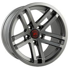 Rugged Ridge 15303.92 Jesse Spade Wheel; 17x9; Satin Gun Metal; 07-17 Jeep Wrangler JK