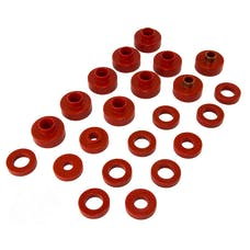 Rugged Ridge 18351.02 Body Mount Kit, Red, 22 Pieces; 76-79 Jeep CJ Models