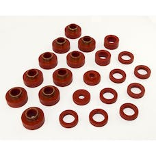 Rugged Ridge 18351.03 Body Mount Kit; Red; 22 Pieces; 80-86 Jeep CJ7