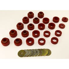 Rugged Ridge 18351.05 Body Mount Kit, Red, 22 Pieces; 87-95 Jeep Wrangler YJ