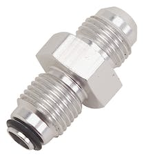 """Russell 648010 Adpater  Power Steering  #6 AN male to 1/2""""-20 O-Ring Seal  Clear Anodized"""
