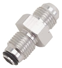 """Russell 648020 Adpater  Power Steering  #6 AN male to 9/16""""-18 O-Ring Seal  Clear Anodized"""