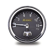 Russell 650350 Non Liquid Filled Gauge 0-15 PSI