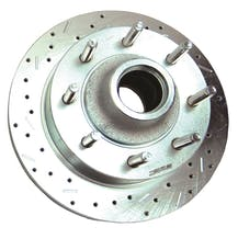 Stainless Steel Brakes 23534AA3L rtr drld sltd zp frnt 2000-05 Excursion 2WD w/all wheel ABS lh