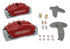 Stainless Steel Brakes A189-4R Tri-Power A189-4 kit w/red calipers