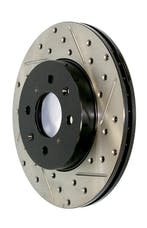 StopTech 127.65119L Sport Drilled/Slotted Brake Rotor; Front Left