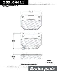 StopTech 309.04611 Sport Brake Pads with Shims
