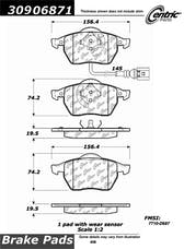 StopTech 309.06871 Sport Brake Pads with Shims and Hardware