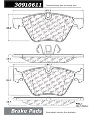 StopTech 309.10611 Sport Brake Pads with Shims and Hardware
