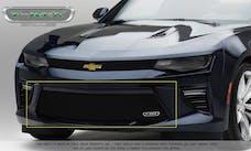 T-Rex Grilles 25036B Billet Bumper Grille, Black, Aluminum, 1 Pc, Overlay