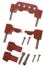 Taylor Cable Products 42721 Bracket Hortizontal 4/Pkg  Red