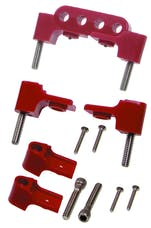 Taylor Cable Products 42722 Bracket Hortizontal 6/Pkg  Red