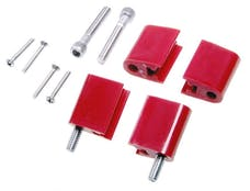 Taylor Cable Products 42725 Bracket Vertical 4/Pkg  Red