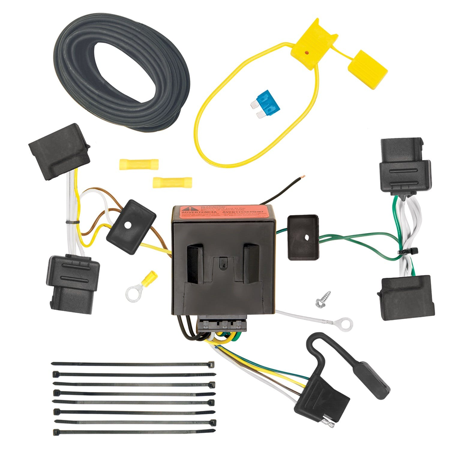 Tekonsha 118543 T-One Connector Assembly with Upgraded Circuit Protected ModuLite Module