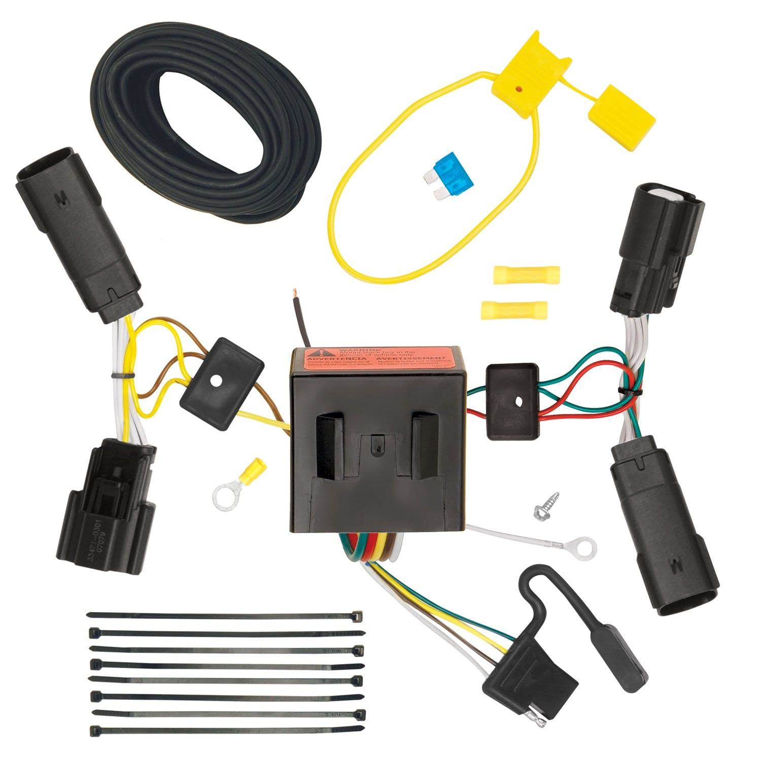 Tekonsha 118561 T-One Connector Assembly with Upgraded Circuit Protected ModuLite Module
