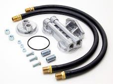 "Trans Dapt Performance 1222 DUAL Oil Filter Relocation Kit;3-3/16""ID;3-7/16""OD Filter Flange;13/16""-16Thread"