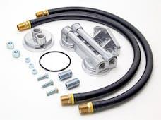 "Trans Dapt Performance 1250 DUAL Oil Filter Relocation Kit;2-1/2""ID;2-3/4""OD Filter Flange;18mmX1.5 Thread"