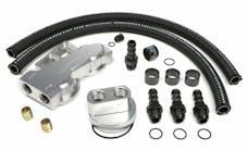Trans Dapt Performance 3384 Dual Oil Filter Relocation Kit