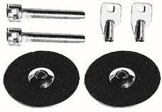 Trans Dapt Performance 4062 Hood Lock Set with Key; UNIVERSAL FIT-CHROME
