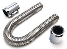 "Trans Dapt Performance 8200 12"" STAINLESS STEEL RADIATOR HOSE KIT- POLISHED ALUMINUM ENDS"
