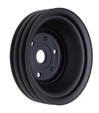 Trans Dapt Performance 8608 CRANKSHAFT Pulley; 3 Groove; CHEVROLET SB (69-85);LONG Water Pump-ASPHALT BLACK