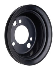 Trans Dapt Performance 8617 CRANKSHAFT Pulley; 1 Groove; CHEVROLET BB (65-68);SHORT Water Pump-ASPHALT BLACK