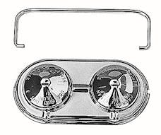 "Trans Dapt Performance 9100 Brake Master Cylinder Cover; Early GM (1967-80); 2-3/8"" X 5""; SINGLE Bail-CHROME"