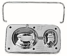 "Trans Dapt Performance 9101 Brake Master Cylinder Cover; Early GM(1967-80); 3 x 5-5/8""; SINGLE Bail-CHROME"