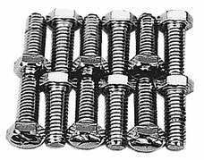 "Trans Dapt Performance 9266 INTAKE MANIFOLD BOLTS; 3/8""-16 X 1-1/4"" Hex Head (16 bolts)-CHROME"