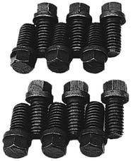 "Trans Dapt Performance 9943 HEADER BOLTS; 3/8""-16 x 3/4""; Standard Head (16 bolts)- BB Chevy, Ford V8"