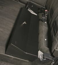 Tuffy Security 287-01 Under driver side rear seat lockbox for F-150 2009-Cur Crew cab; with subwoofer/