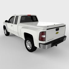 UnderCover UC1076L-50 LUX Tonneau Cover Olympic White/Summit White Paint Code GAZ/WA8624
