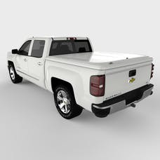 UnderCover UC1116L-50 LUX Tonneau Cover Olympic White/Summit White Paint Code GAZ/WA8624