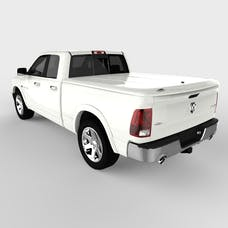 UnderCover UC3076L-PW7 LUX Tonneau Cover Bright White w/o Bed Rail Storage