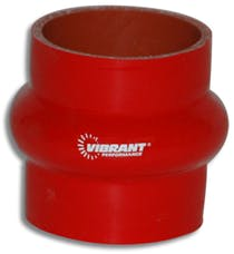 "Vibrant Performance 2730R 4 Ply Hump Hose, 2"" I.D. x 3"" Long - Red"