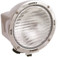 "Vision X 4000667 6.7"" Round 100 Watt Tungsten Halogen Flood Beam"