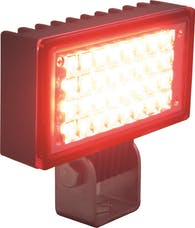 "Vision X 9121369 3.4"" X 1.9"" Utility Flood Black 32 Red LEDs"