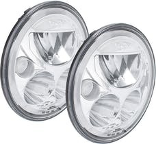 "Vision X 9917566 Pair Amber Halo 7"" Round Vx LED Headlight with Low-High-Halo"
