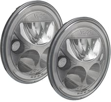 "Vision X 9917573 Pair Of Black Chrome Amber Halo 7"" Round VX LED Headlight W/ Low-High-Halo"