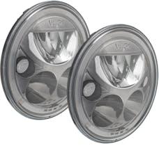 "Vision X 9917573 Pair Of Black Chrome Amber Halo 7"" Round VX LED Headlight W/ Low-High-Halo"