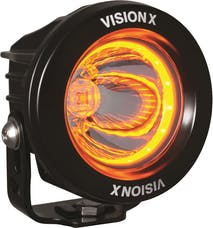 "Vision X 9907185 3.0"" Optimus Amber Halo Series Prime Black 10-Watt LED Light 15 Degree Beam"