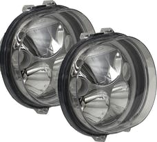 """Vision X 9917658 Two 5.75"""" Black Chrome Face Oval Amber Halo VX LED Headlight with Low-High-Halo"""